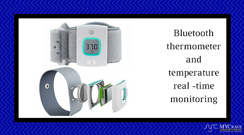Bluetooth thermometer and temperature real -time monitoring