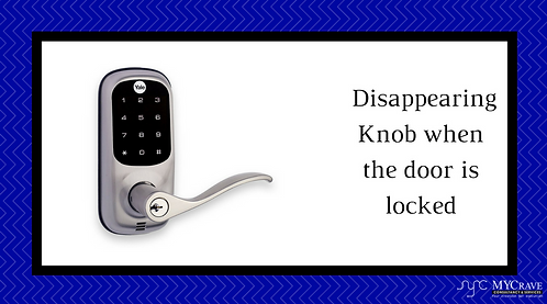 Disappearing Knob when the door is locked