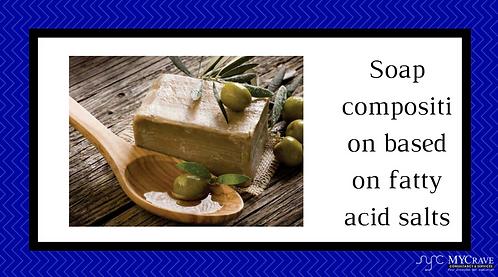 Soap composition based on fatty acid salts