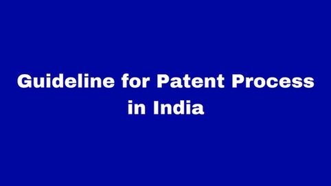 Procedure for filing of Patent Application in India