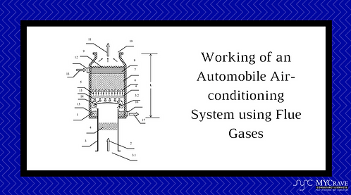 Working Of an Automobile Air-Conditioning System using flue gases.