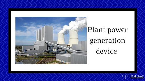 Plant Power Generation Device