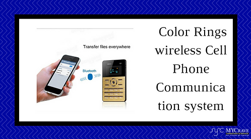 Color Rings wireless Cell Phone Communication system