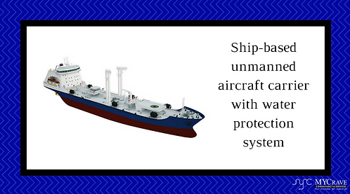 Ship-based unmanned aircraft carrier with water protection system