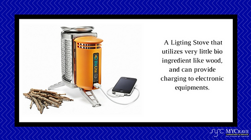A Ligting Stove that utilizes very little bio ingredient like wood.