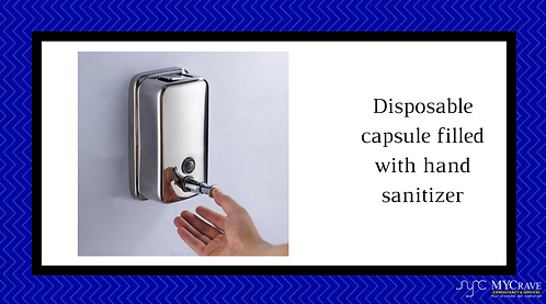 Disposable Capsule Filled With Hand Sanitizer