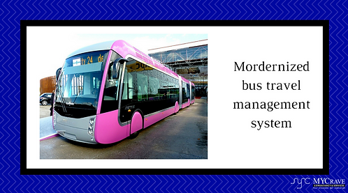 Mordernized bus travel management system