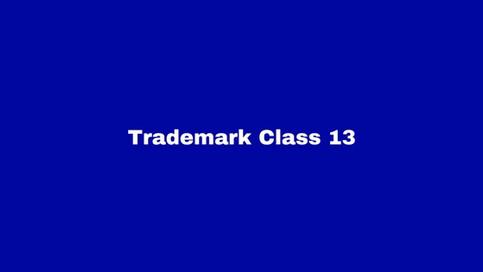 Trademark Class 13: Firearms