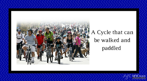 A Cycle that can be walked and paddled