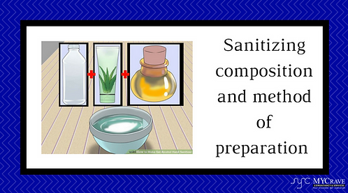 Sanitizing composition and method of preparation