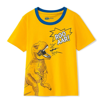 Boys T-Rex Printed Tee