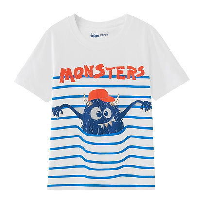 Boys Monster Printed Tee