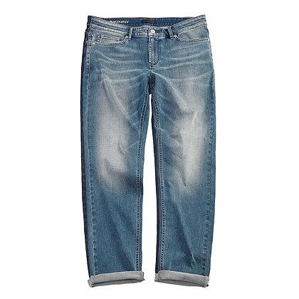 Men's Denim Skinny Jeans (Mid Indigo)