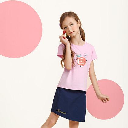 Girls Fruit Beading Graphic T-Shirt