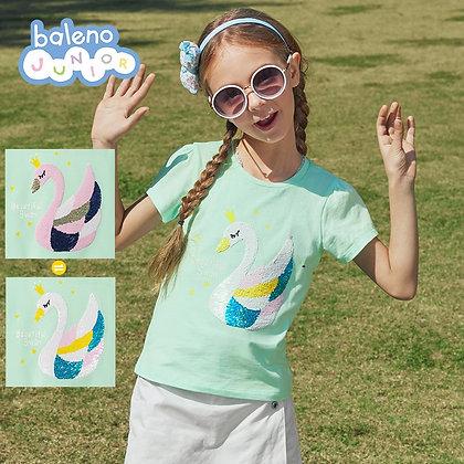 Girls Sequins Graphic Tee