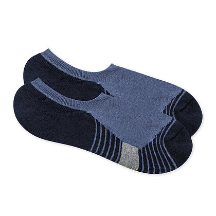 Antibacterial Short Socks with Horizontal Stripe