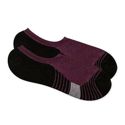 Antibacterial Short Socks with Horizontal Stripe