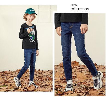 Kids' Denim Jeans (Dark Indigo)
