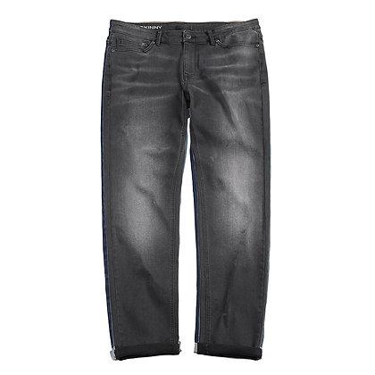 Men's Denim Skinny Jeans (Black)