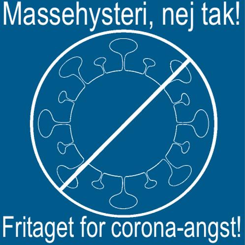 Sticker - 'Fritaget' virus med hvid