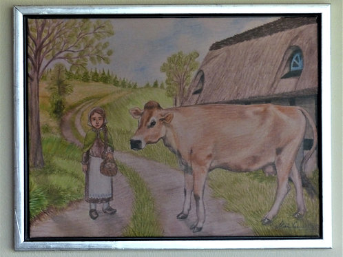 Pigen og koen