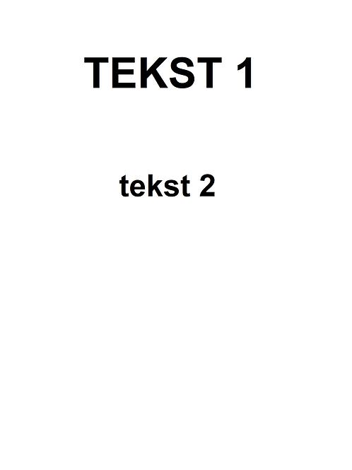 Plakat med skrifttype 1