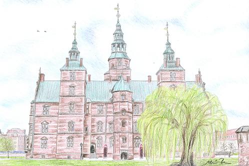 Rosenborg slot kort