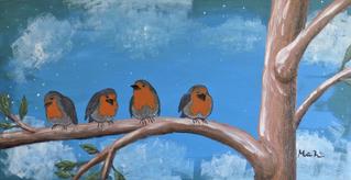 Fugle på en gren 2019