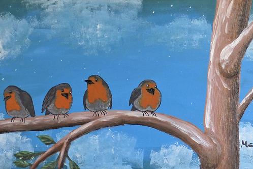 Fugle på en gren