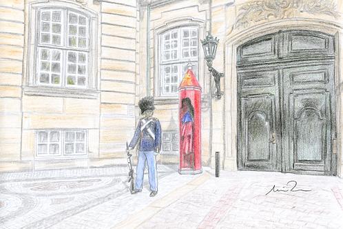 Garder på Amalienborg slotsplads kort