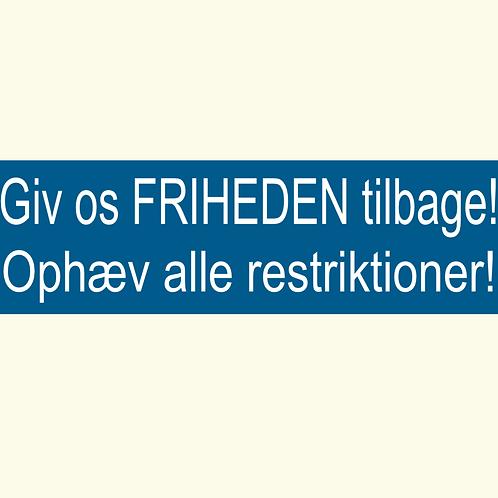 Sticker - 'Friheden'