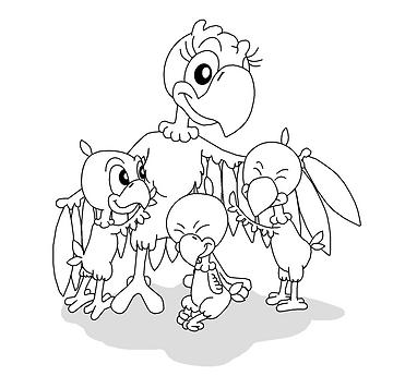 Fru Skipper med børn