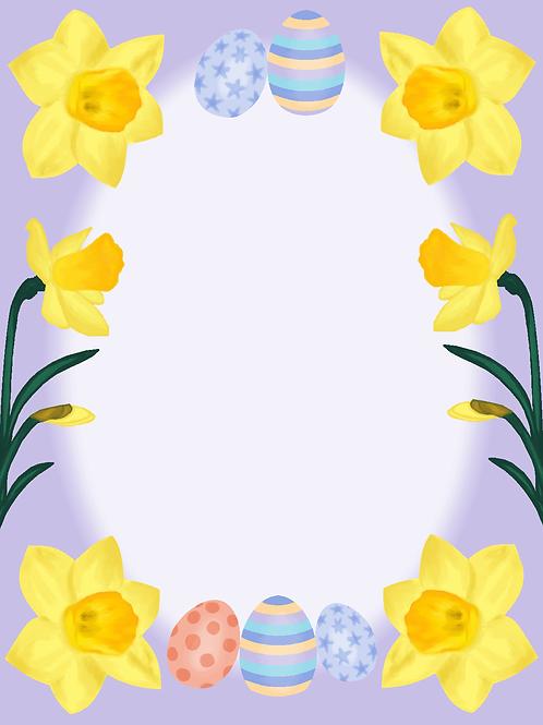 Elektronisk påskekort lilla