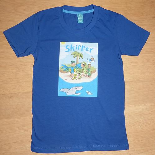 Premium Oeko-Tex T-shirt med Skipper kongeblå