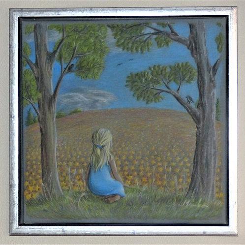 Pigen og blomstermarken