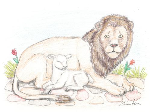 Løven og lammet kort