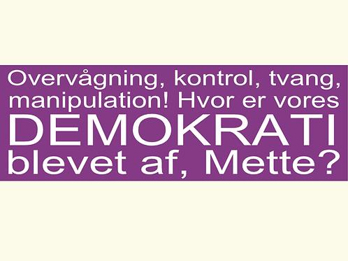 Sticker - 'Hvor er vores demokrati'