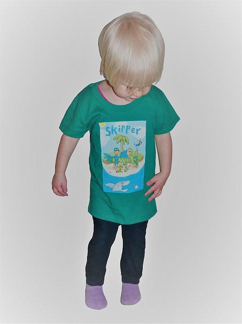 Premium Oeko-Tex T-shirt med Skipper grøn