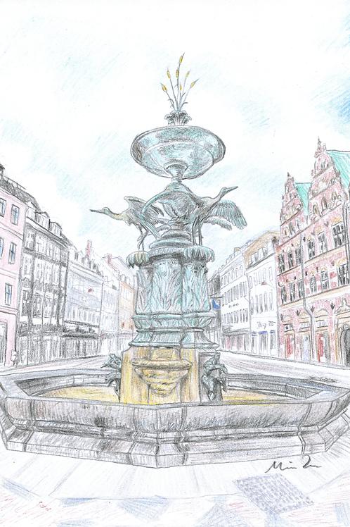 Svanespringvandet i København kort
