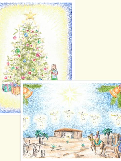 Pakke med 10 julekort