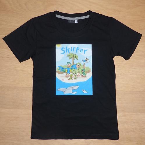 Premium Oeko-Tex T-shirt med Skipper sort