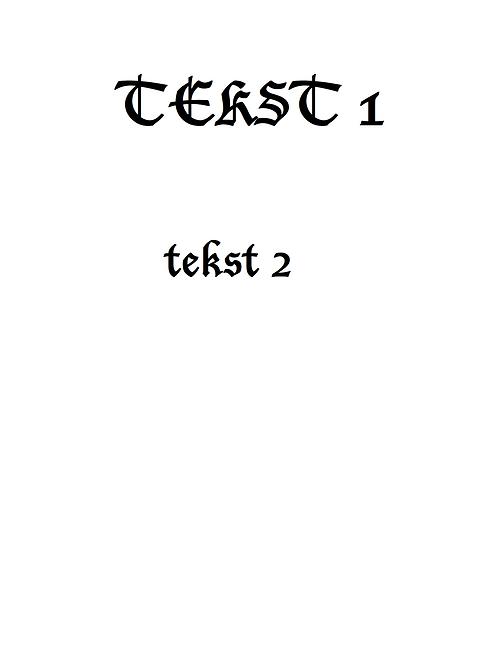 Plakat med skrifttype 2
