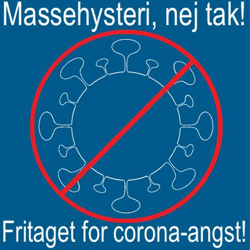 Sticker - 'Fritaget' virus med rød