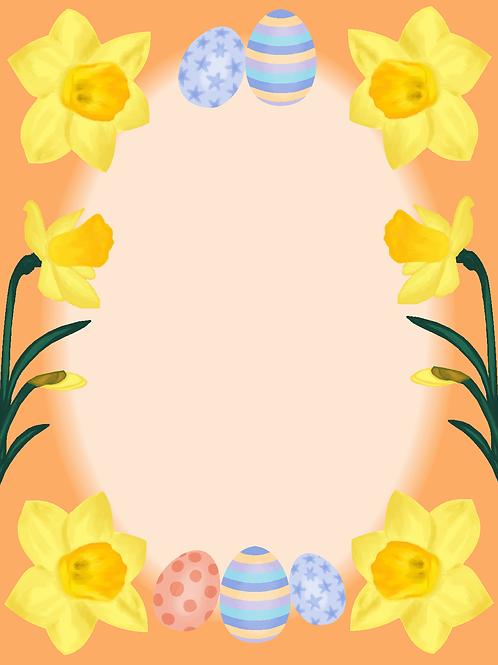 Elektronisk påskekort orange