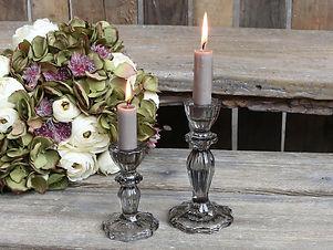 Kerzenständer Glas klein