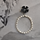 Thumbnail: Black Geraldton Wax with Pearl Hoops
