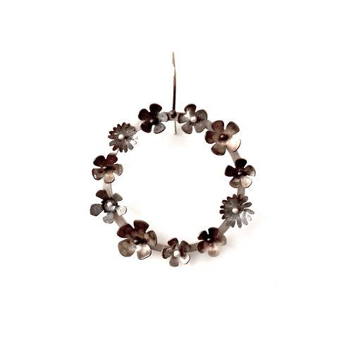 Oxidised Floral Hoops