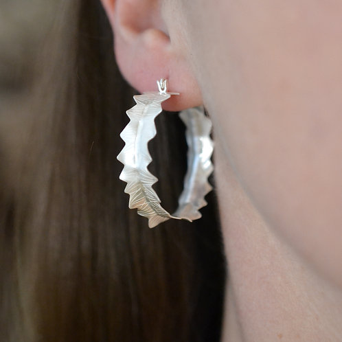 Banksia 'Prionotes' Hoop Earring (Small)