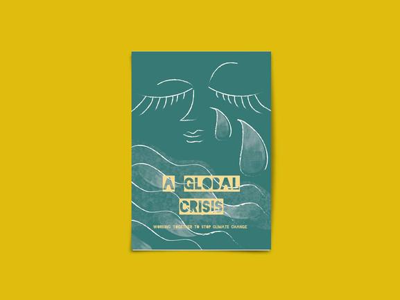 Global Crisis Poster green