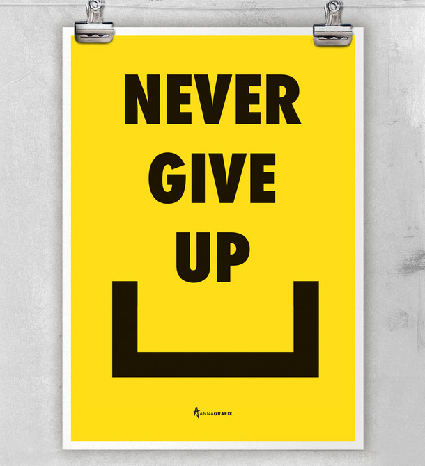Never Give Up / Yellow
